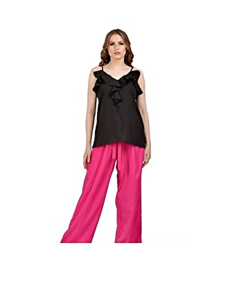 561c8544ff219 Women s Palazzo Pant with Top Rayon Wear Casual Summer Outfit Set Dress 2  Pcs at Amazon Women s Clothing store