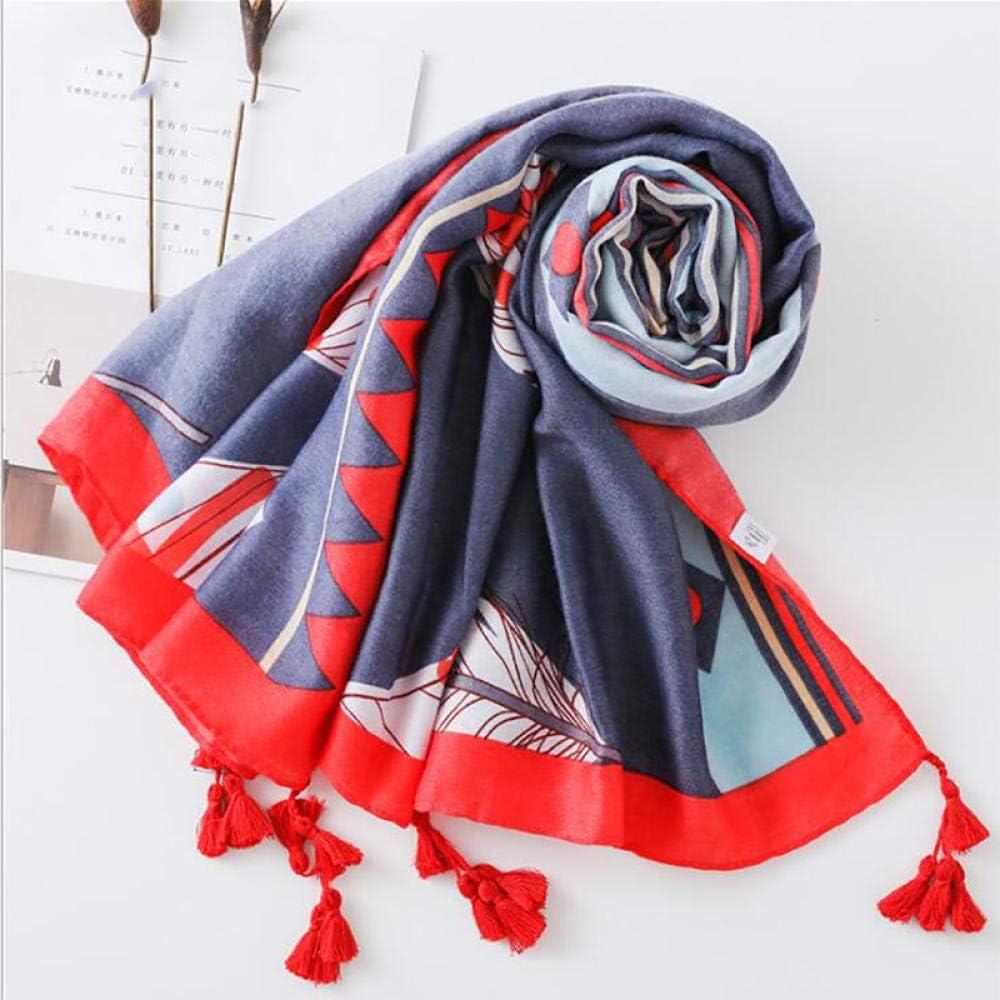 YYNIGHT SCARF//Keep warm//180100cm Folk-custom Prints Scarf