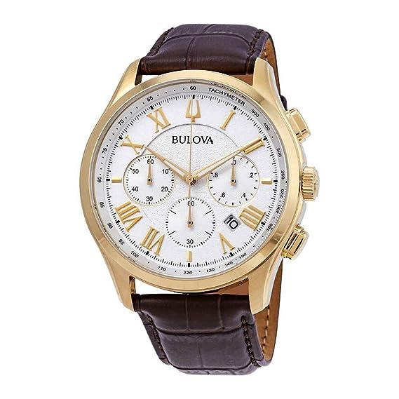Bulova 97b169 Wilton – Reloj para hombres color marrón 46,5 mm acero inoxidable