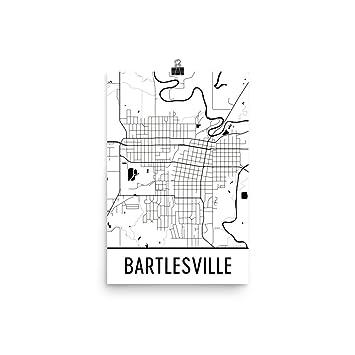 Amazoncom Bartlesville Print Bartlesville Art Bartlesville Map