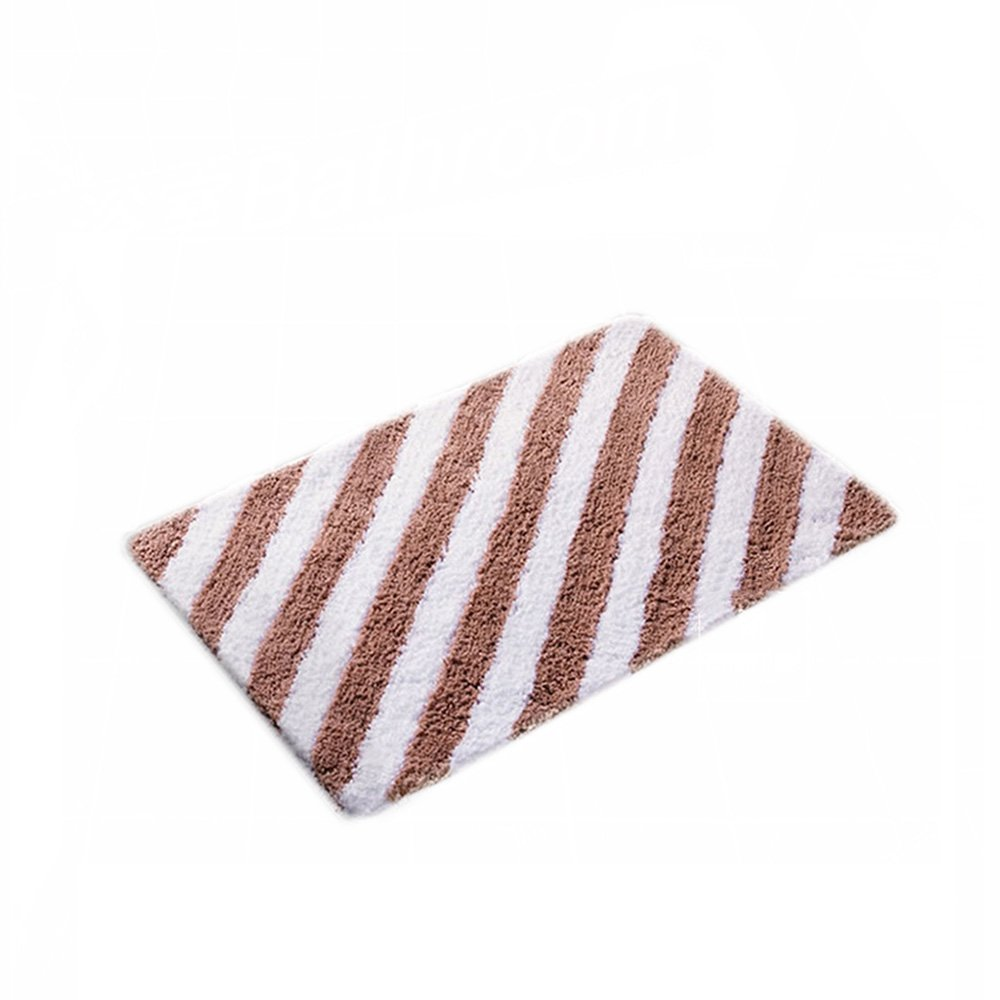 Bathroom Waterproof Anti-slip Door Small Carpet Can Be Washed ( Color : Brown , Size : 4565cm )