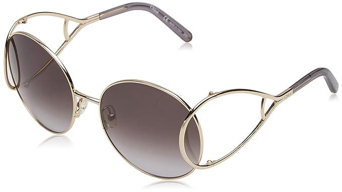 Chloè CE124S 744 60 Gafas de sol, Gold/Grey, Mujer: Amazon ...