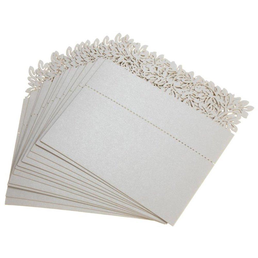 50x Milopon Marque Place Forme de Fleur Creux Nom Carte Décoration Pour Soirée Mariage Fête