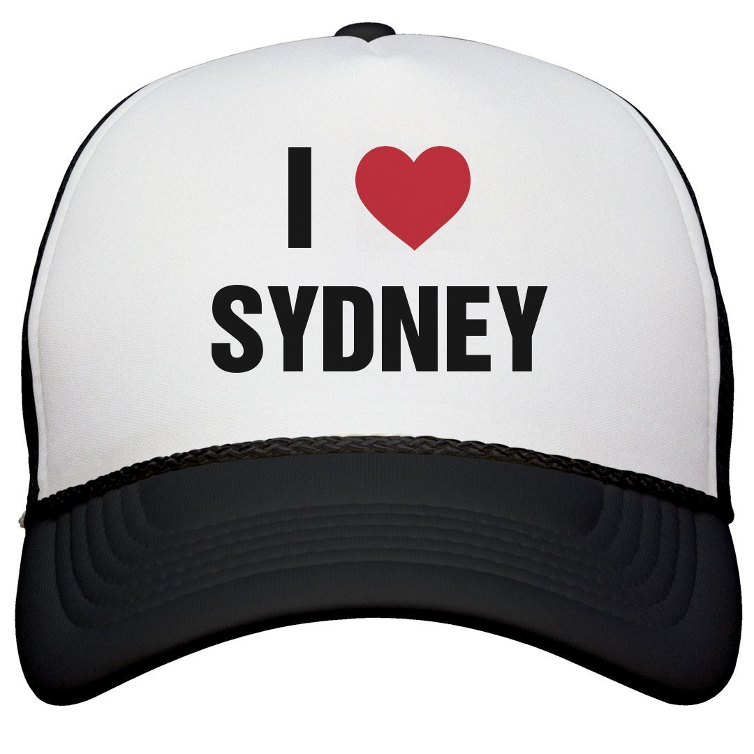Amazon.com  I Love Sydney Matching Hats  Snapback Trucker Hat  Clothing e85b848f59f
