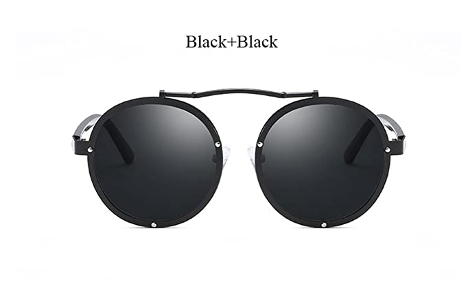 Amazon.com: Retro Black Gothic Steampunk Mirror Sun glasses ...