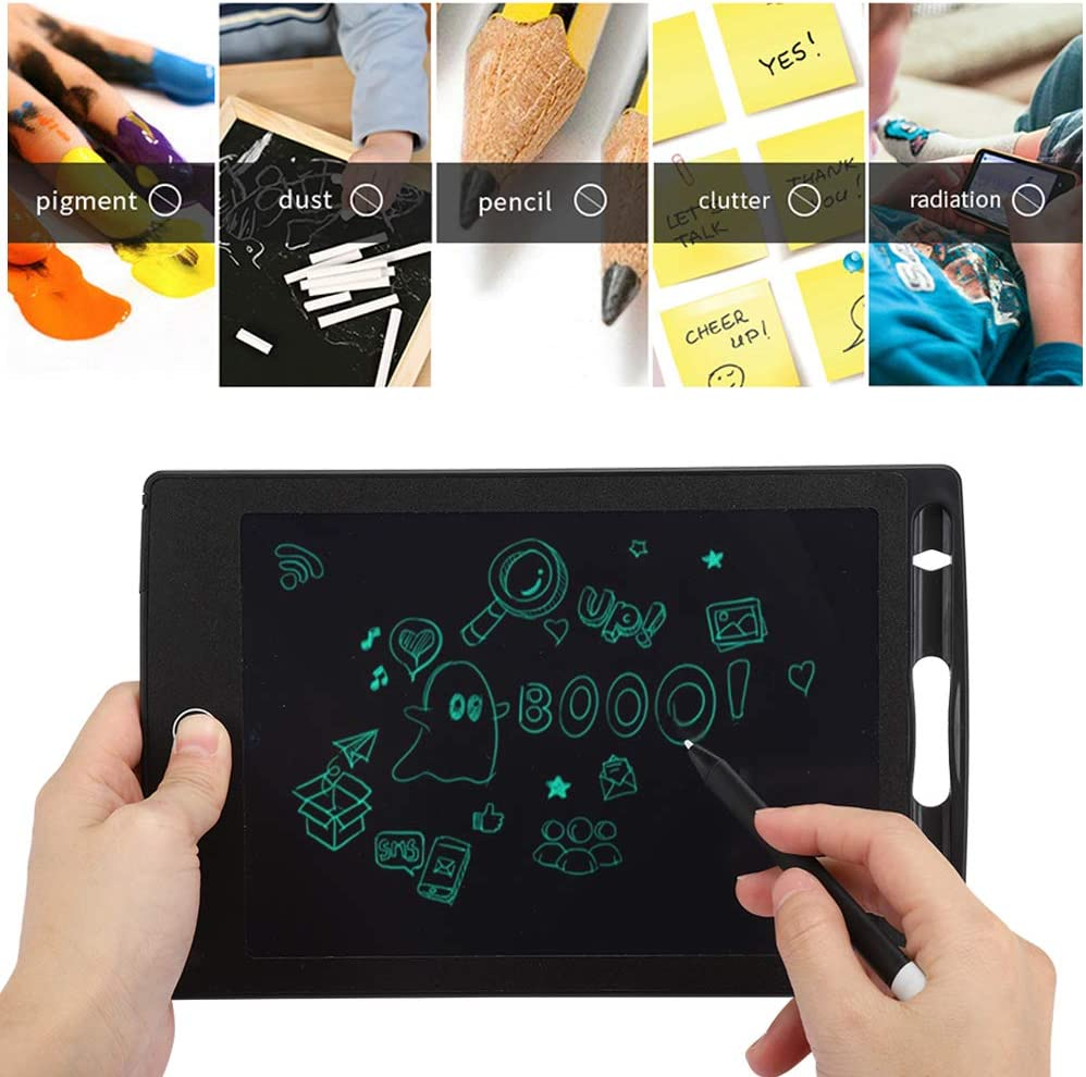 ASHATA LCD Writing Tablet LCD Handwriting Tablet Drawing Board Writing Board Electronic Notepad 8.5-Inch Ultra-Thin Hand-Painted Table for Partial Erasure Black