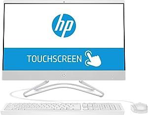 "2019 HP Pavilion 24 AIO Desktop Computer, 8th Gen Intel Quad-Core i5-8250U up to 3.4GH, 16GB DDR4, 1TB 7200rpm HDD + 256GB SSD, 23.8"" FHD Touchscreen, DVDRW, AC WiFi, USB 3.1, HDMI, Windows 10"