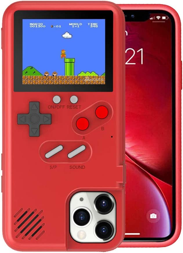 Game Console Case for iPhone 8, VOLMON Shockproof Case with Video Games for iPhone 7, Color Display Retro Gameboy Case, Game Phone Case for iPhone ...