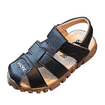 Zapatos 1-3 Años Bebé Niños Moda Zapatillas Niños Chicos Niñas Verano Sandalias Casuales Zapatos ¡Verano caliente! ❤ Manadlian (Negro, 1-1.5 años): ...