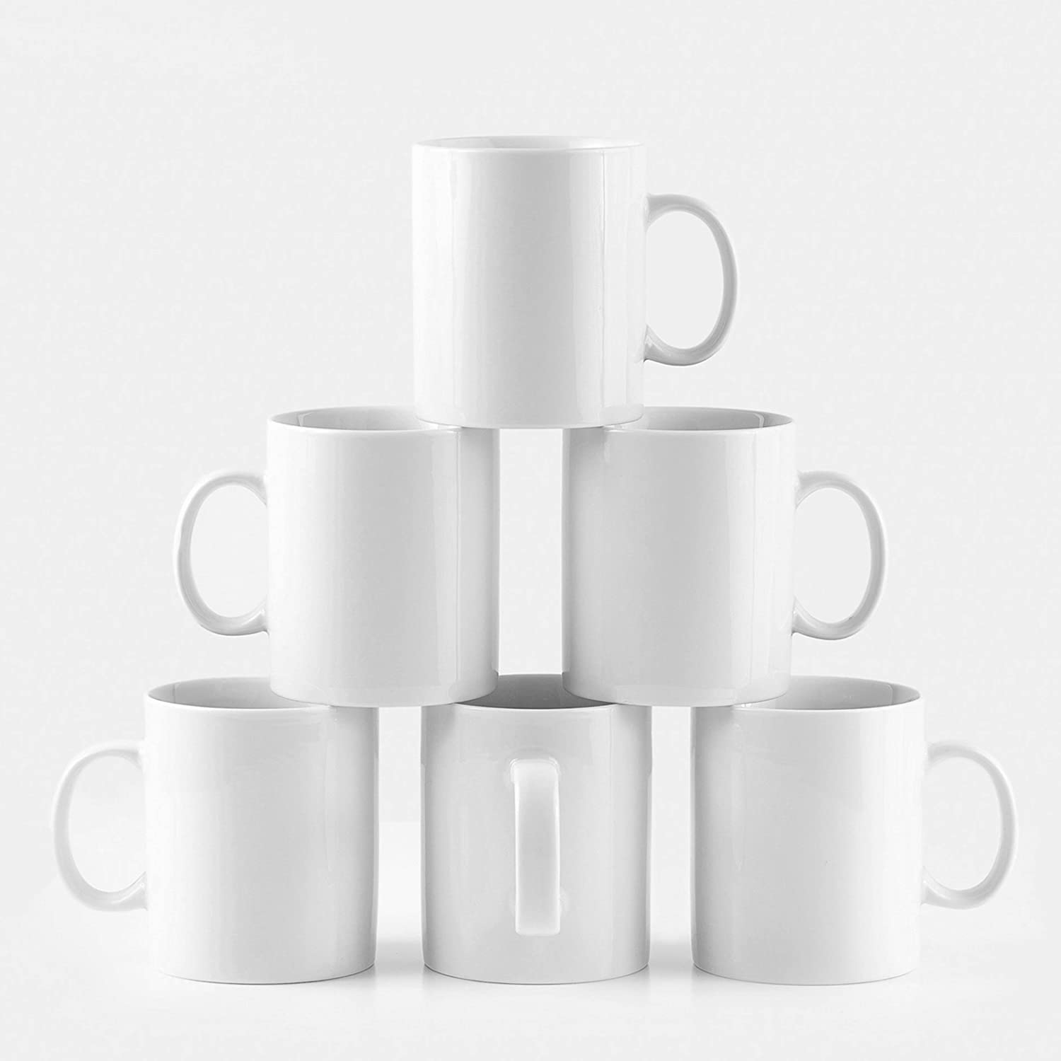 Amuse- Professional Barista Large Mug- Set of 6- 16 oz.