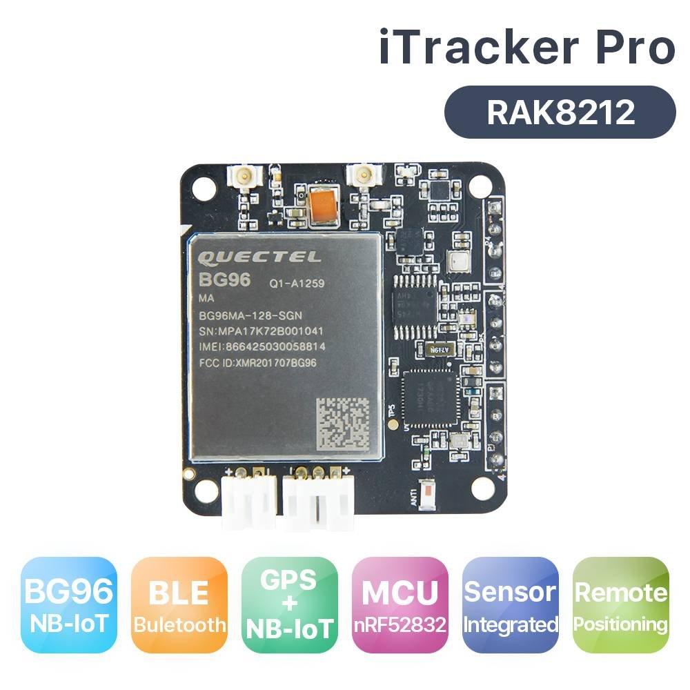 RAKWireless RAK8212 iTracker Pro Sensor Node and GPS BG96 BLE+GPRS+GPS+Sensors GPRS All In One Cellular IoT Module