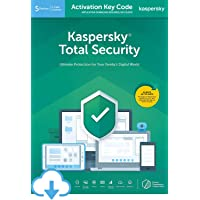 Kaspersky Total Security 2020 | 5 Devices | 1 Year | PC/Mac/Android | Activation Code by Email [Download] | Antivirus Software, Internet Security, 360 Deluxe Firewall, Secure VPN, Password Manager, Safe Kids