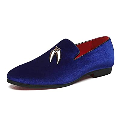 XIUWU Men's Suede Formal Dress Oxford Shoes Pointed Toes Driving Loafers | Oxfords