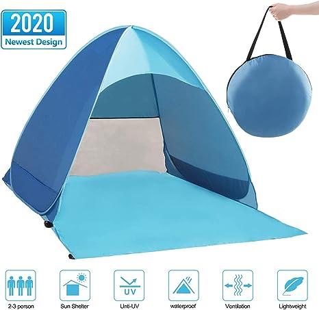Zenoplige Pop Up Tent, Beach Camping Tent Foldable Outdoor UV Lightweight Waterproof tent as Sun Shelter Children Family and Dog on Garden, Beach