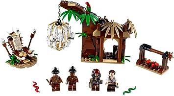 LEGO Piratas del Caribe 4182 - La Huída del Poblado Caníbal: Amazon.es: Juguetes y juegos