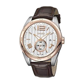8b3583c54d SMALTO SMALTO Montre Timeless Bracelet Cuir Homme: Amazon.fr: Montres