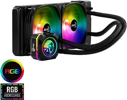 Aerocool L240F, refrigeración líquida Halo RGB TDP 400, 2 ventiladores RGB 12cm: Amazon.es: Informática