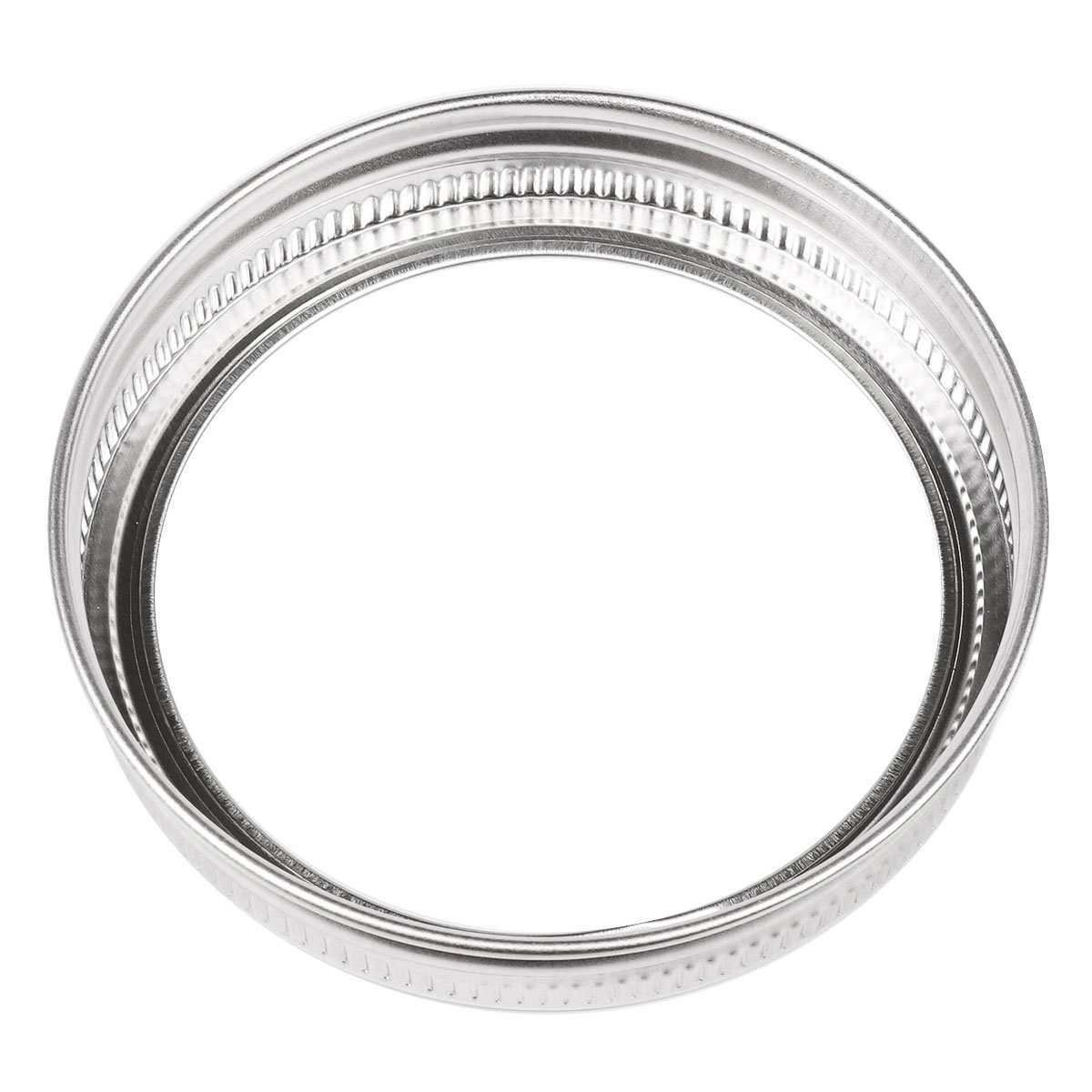 iiniim Stainless Steel Rust Resistant Screw Bands//Rings for Mason Ball 10 Pack Canning Jars
