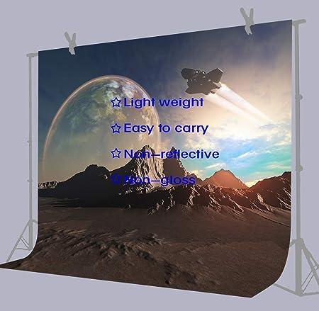 10x6.5ft Background Future Landscape Spaceship Photography Backdrop Studio Photo Props LHFU048