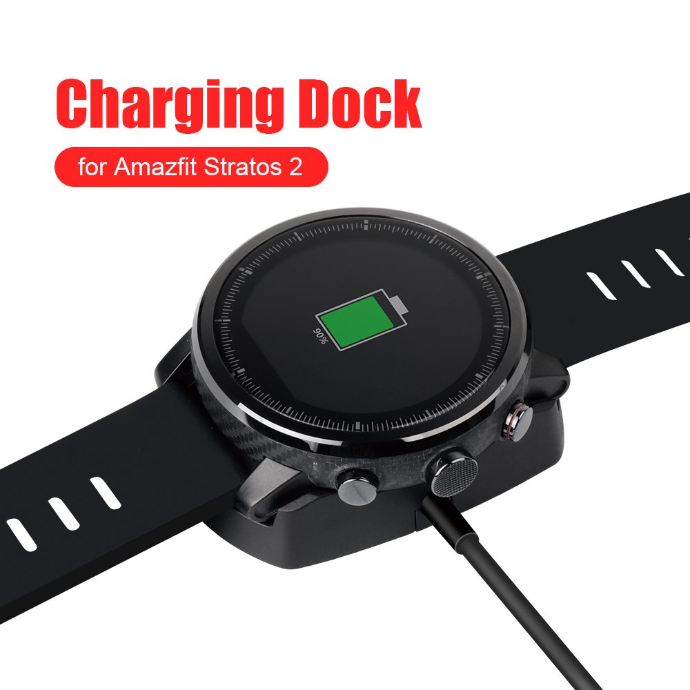 Amazfit Stratos Charger SIKAI Replacement Portable Magnetic Charging Cradle Dock For Huami Amazfit Stratos Smart Watch Charger Station With Micro USB ...