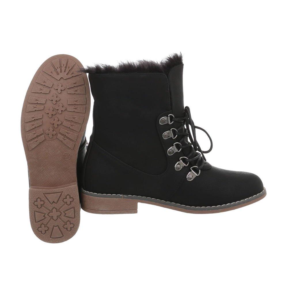 Damen Stiefeletten    warme Winter Stiefel   dick gefüttere Schnee Stiefel   Winterschuhe Kunst-Fell   Scheestiefel   Größen von 36-41 69164f