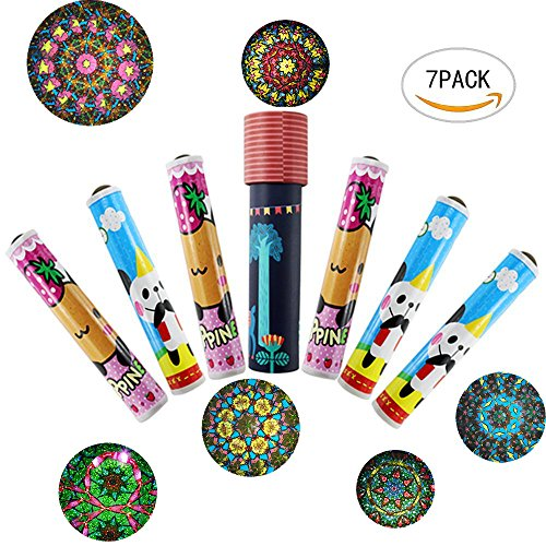 7PCS Mseeur Magic Kaleidoscope Classic Spinning Game Educational Toys For Children (Toy Kaleidoscope)