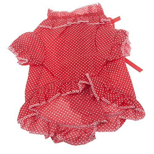Neewer® Spot Pattern Lace Stringy Selvedge Shirt Pet Dog Clothes Apparel Size S Red