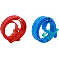 115x3.5cm Unisex Women Men Adjustable Rubber Silicone Belt with Plastic Buckle