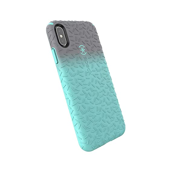 reputable site 53b9e 7fa66 Speck Products CandyShell Fit iPhone Xs Max Case, Gunmetal Grey Ombre Zeal  Teal/Zeal Teal