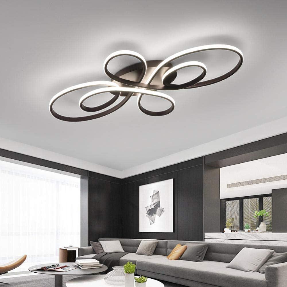 Luces de techo LED modernas regulables sala de estar comedor dormitorio estudio balcón cuerpo de aluminio decoración del hogar lámpara de techo, L800XW500XH85mm, Cool_white_NO_RC