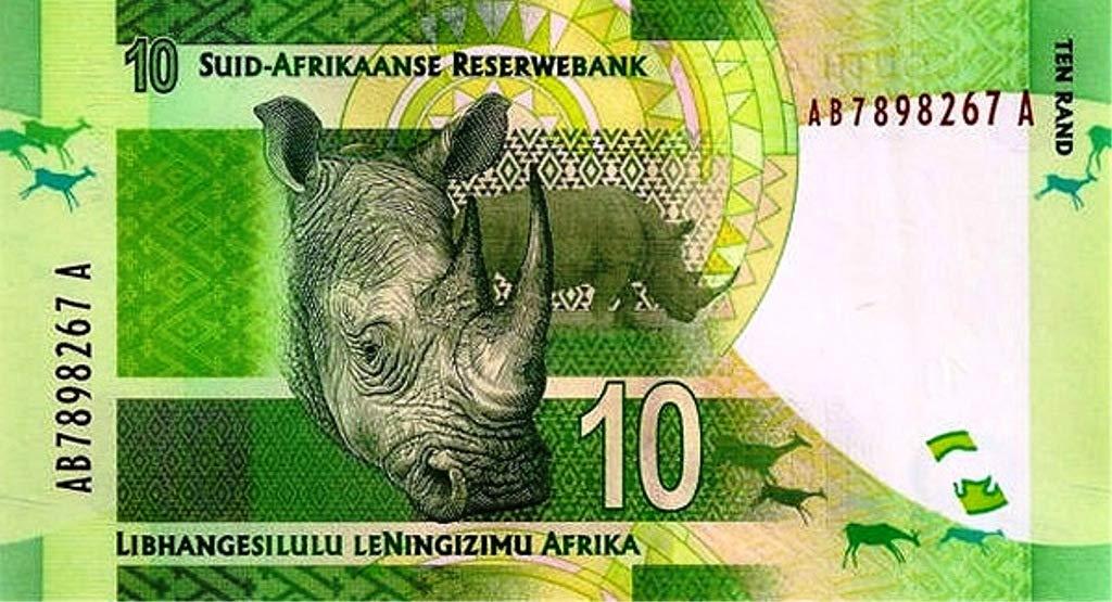 Afrique du sud Pick 133 UNC 10 Rand 2012 Nelson Mandela Billet de Banque pour collectionneurs