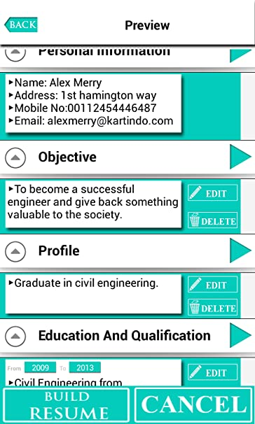 Amazon.com: Professional Resume Builder: Appstore for Android