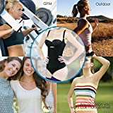 Camellias Women's Seamless Firm Control Shapewear Open Bust Bodysuit Body Shaper Black