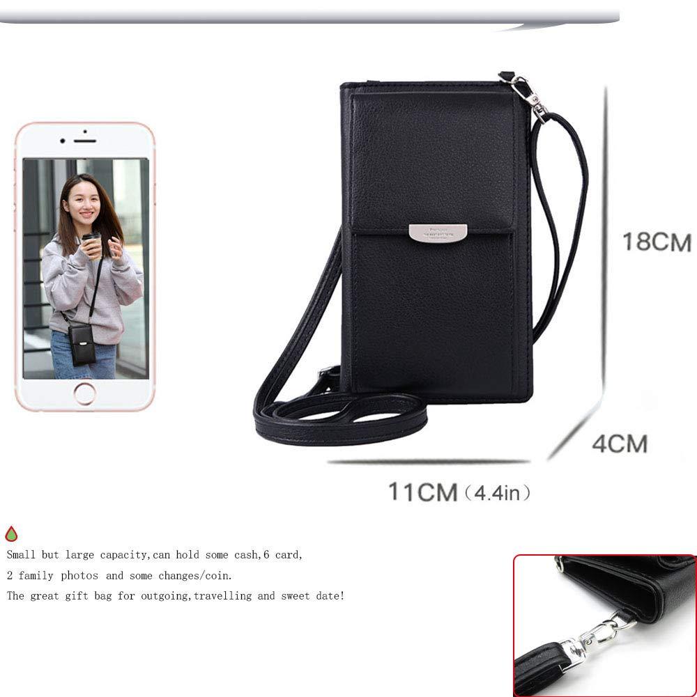 Summer Small Crossbody Bag, Cell Phone Purse Wallet with 2 Adjustable Shoulder Strap Handbag for Women (Black) by VIVI MAO (Image #3)