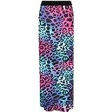 Plus Size Women's Animal Leopard Spot Print Long Stretch Ladies Maxi Skirt. UK 14-28