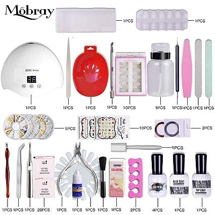 Mobray - Juego de herramientas de manicura, kit de manicura intermedio para eliminar las cutículas de las uñas ...