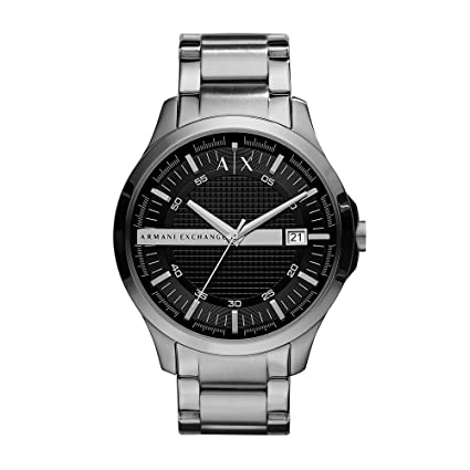4915c964bf2 Amazon.com  Armani Exchange Men s AX2103 Silver Watch  Armani Exchange   Watches