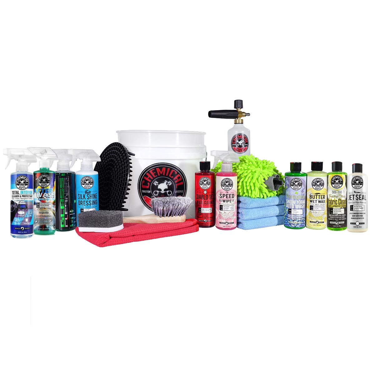 <strong>Chemical Guys 20-Piece Arsenal Builder Car Wash Kit</strong>}
