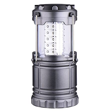 GTC LED Lantern Camping Light Energy Safety and Environmental Protection Lantern (Grey) Item no-9788-9