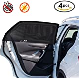 4 Pack Car Window Shades for Baby & Pets, Front and Rear Side Car Sun Shades, Block Harmful UV, Anti-Mosquito, Universal Fit!
