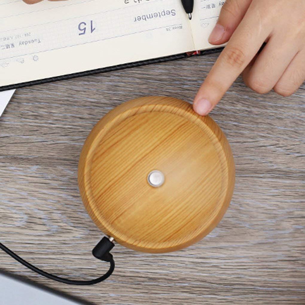 Ogquaton LED de grain de bois de la meilleure qualit/é 130ml Diffuseur ultrasonique dhuile essentielle dhumidificateur dair dAromatherapy USB