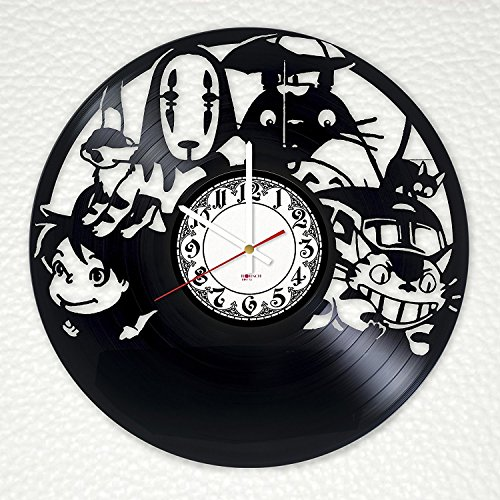 Animation Film Handmade Vinyl Record Wall Clock - Get unique kids room wall decor - Gift ideas for siblings, children, teens – Animation Studio Unique Design