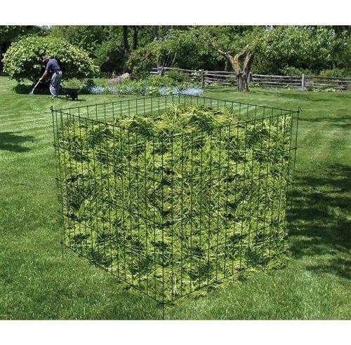 (Steel Metal Wire 3-ft Compost Bin in Green - Make Your own Garden Soil at Home Compost Kitchen Bin CHOOSEandBUY)