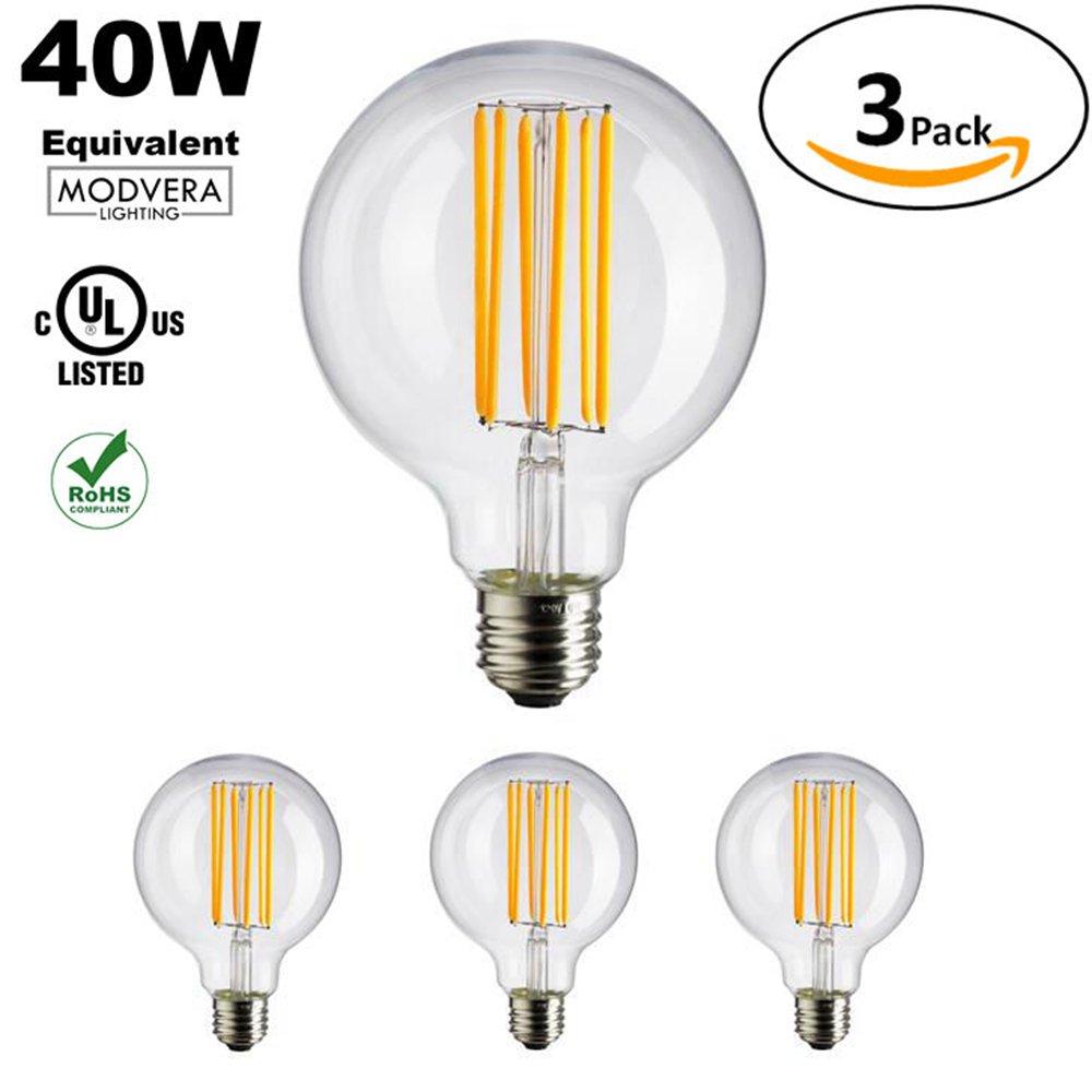 Well Wreapped 3 Pack Modvera G25 G80 Led Light Bulb Decorative Bathroom Lighting Globe Light