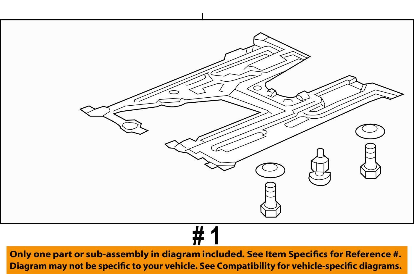 Lower Genuine Honda 74110-TR3-A20 Engine Cover Assembly