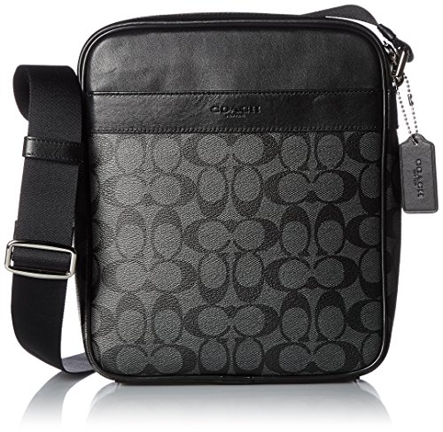 Coach Shoulder Bag [Outlet] PVC Coated Canvas/Leather F54788 [Parallel Imported Goods] (Charcoal/Black)
