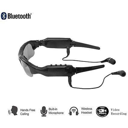 Uhruolo 5 En 1 Gafas De Sol Bluetooth Auriculares Inalámbricos Cámara + Música Mp3 + Bluetooth