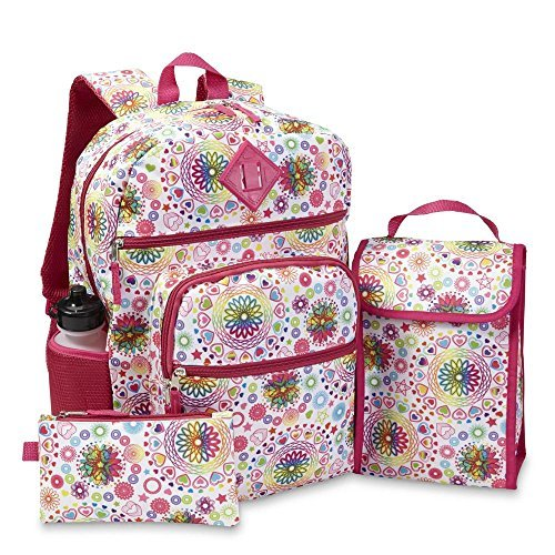 Confetti Girls' Backpack, Lunch Bag, Pencil Case & Water Bottle - Spiral