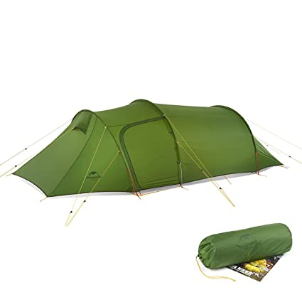 8a7eca71bd81 iBasingo 2-3 Person Detachable Tunnel Tent with Lobby Outdoor Camping  Climbing Double Layer Waterproof Tent Ultralight 4 Seasons Camp Tent with  Mat for ...
