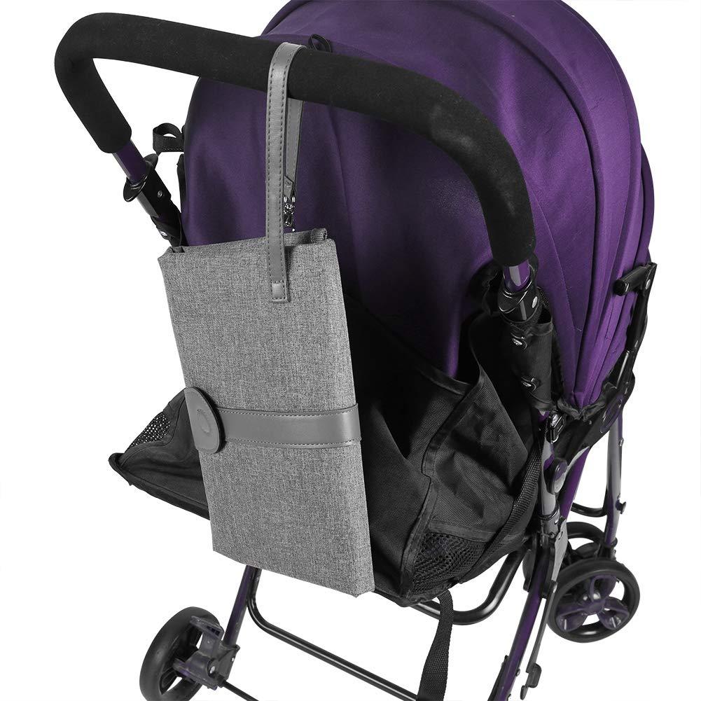 #1 Baby Wickelunterlage f/ür Unterwegs mit Taschen Faltbar Tragbar Wasserdicht Wickeltasche Zubeh/ör f/ür Neugeborenen